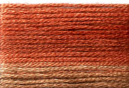 Cosmo Seasons Variegated Embroidery Floss Browns/Rusts