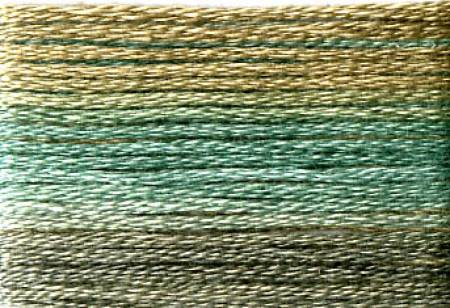 Cosmo Seasons Variegated Embroidery Floss Blues/Browns