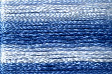 Cosmo Seasons Variegated Embroidery Floss Blues