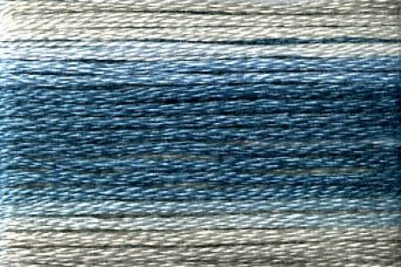 Cosmo Seasons Variegated Embroidery Floss Blues/Greys