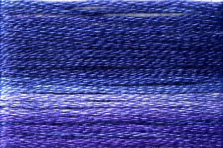 Cosmo Seasons Variegated Embroidery Floss Dark Purples/Blues