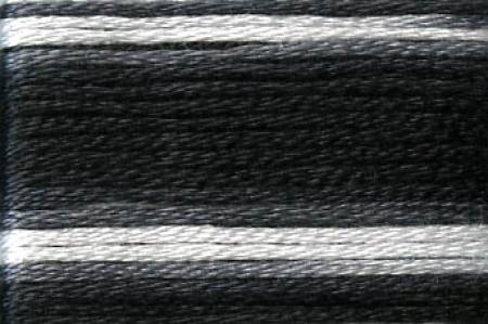 Cosmo Seasons Variegated Embroidery Floss Black/Grey/White