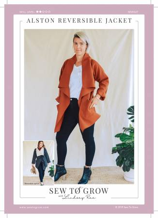 Alston Reversible Jacket Pattern by Sew to Grow