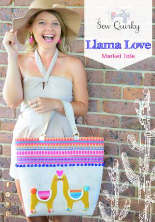 Llama Love Market Tote by Sew Quirky