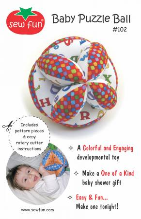 Baby Puzzle Ball Pattern from Sew Fun
