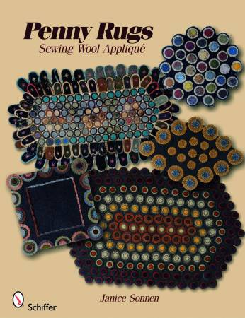 Penny Rugs Sewing Wool Applique - Softcover