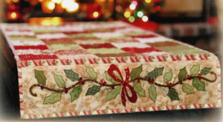 Holly & Berries Table Runner