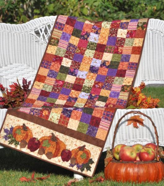 PTRN-1023 - Bountiful Harvest Table Runner Pattern - Shabby Fabrics