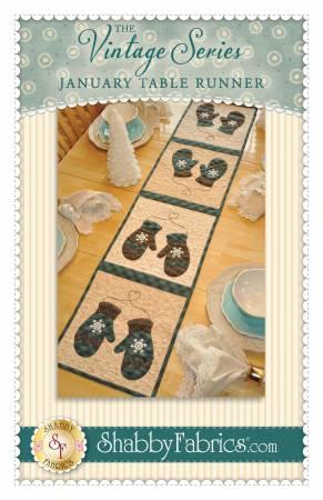 Vintage Series Table Runner - January
