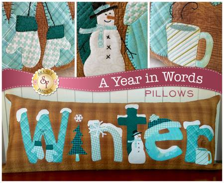 A YEAR IN WORDS PILLOW WINTER