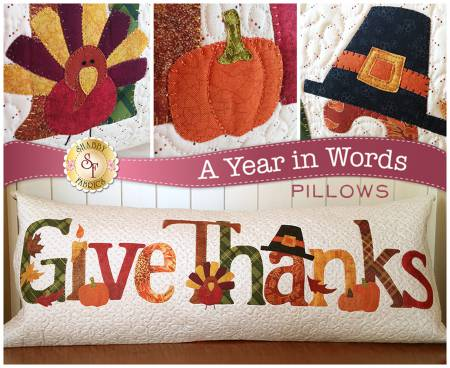 A Year In Words Pillow Give Thanks November