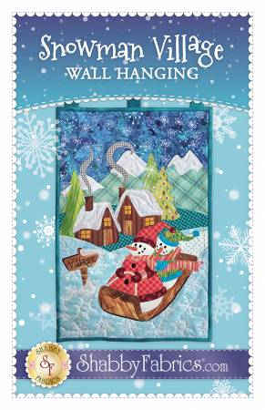 Snowman Village Wall Hanging