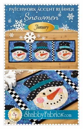 Patchwork Accent Runner Snowmen January