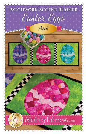 Patchwork Accent Runner Easter Eggs April