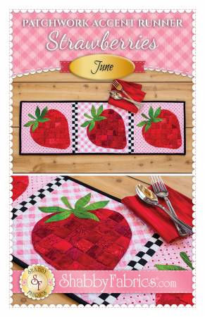 Patchwork Accent Runner Strawberries June