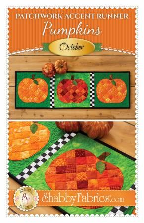 Patchwork Accent Runner Pumpkins October