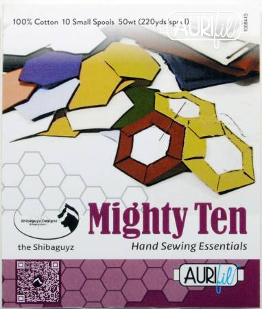 Aurifil Designer Collection: Mighty Ten Thread Collection 50wt 10 Small Spools