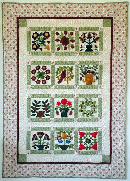 Antique Quilt Block - December & finishing