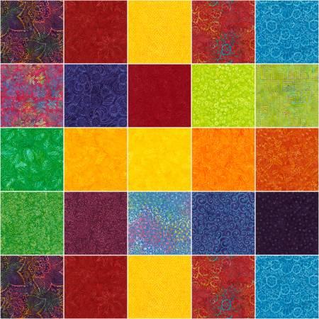 10in Squares, Tonga Batik Jump, 20pcs/bundle