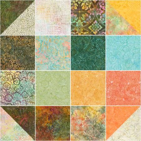 10in Squares Tonga Batik Patina, 20pcs/bundle