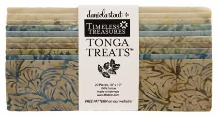 10in Squares, Tonga Batik Pebble, 20pcs/bundle