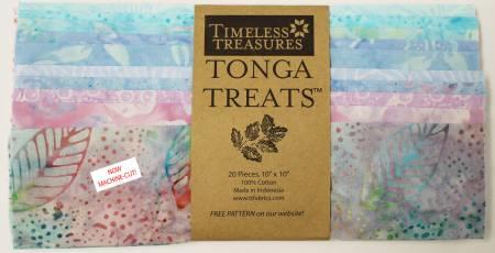 10in Squares Tonga Batik Wish, 20pcs/bundle