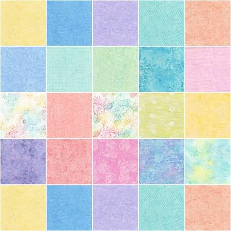 10in Squares Tonga Batik Icing, 20pcs/bundle