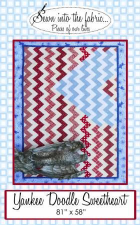 Yankee Doodle Sweetheart Quilt Pattern by Sewn into the Fabric