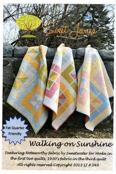 Walking On Sunshine Quilt Pattern by Sweet Jane's Quilting & Design