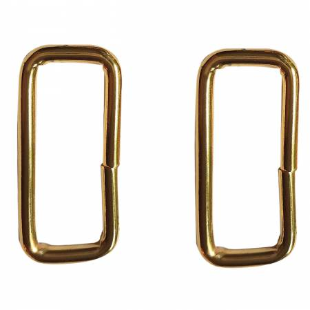 1-1/2in Rectangle Rings Brass 2ct