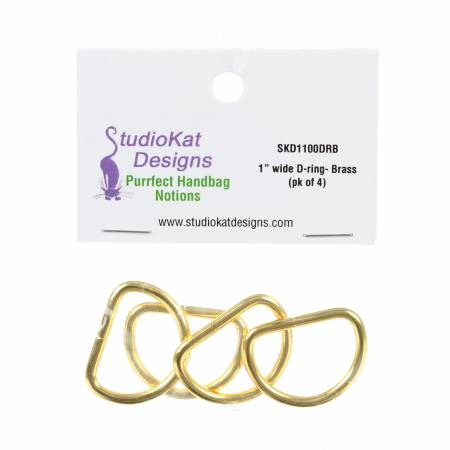 1in D-Ring Brass 4pk