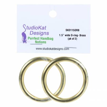 1-1/2in wide O-Rings Gold (pk/2)