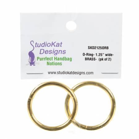 1-1/4in O-Rings Brass 2pk