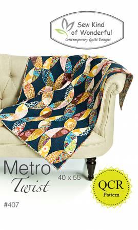 Metro Twist QCR Quilt Pattern by Sew Kind of Wonderful