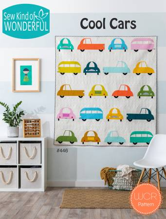 Cool Cars Quilt Pattern 62 x 67