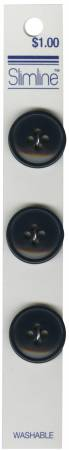 4 Hole Button Navy 3/4in 3ct
