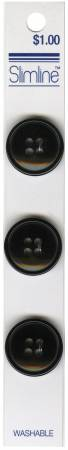 4 Hole Button Black 3/4in 3ct