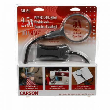 BoaMag 2.5x Magnifier/Flashlight 5x Spot
