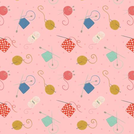 Knitting & Crochet on Pink