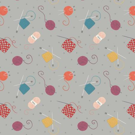 Knitting & Crochet on Grey