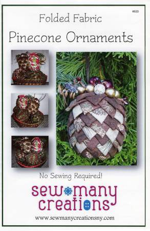 Folded Fabric Pinecone Ornaments Pattern