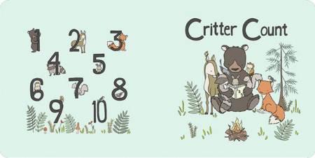 Critter Count Digital Cuddle Panel Honeydew
