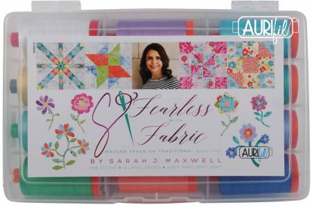 Fearless with Fabric Mixed Weight Thread by Sarah Maxwell 12 Large Spools