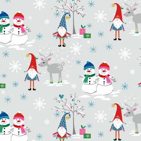 Gnomes - Snow Village Minky