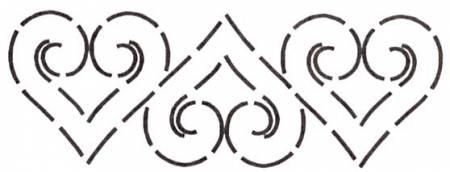 Quilt Stencil Heart Border 5in
