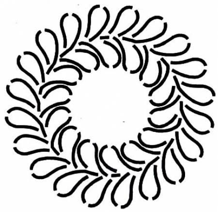 Quilt Stencil Open Feather Wreath
