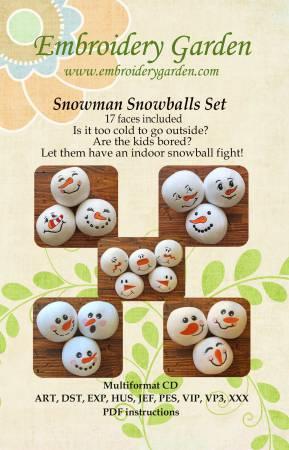 CD Snowman Snowballs Set