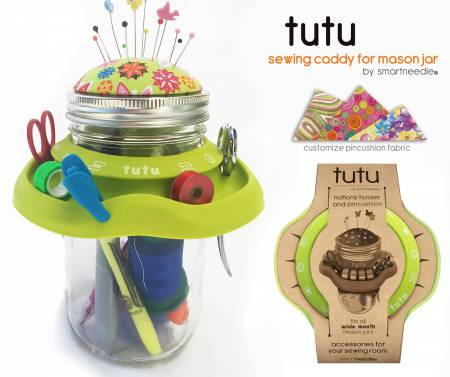 TUTU - Mason Jar Sewing Caddy Green
