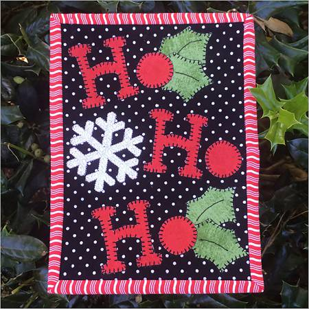 Ho Ho Holly Mug Rug Pattern