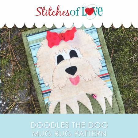 Doodles the Dog Mug Rug Pattern
